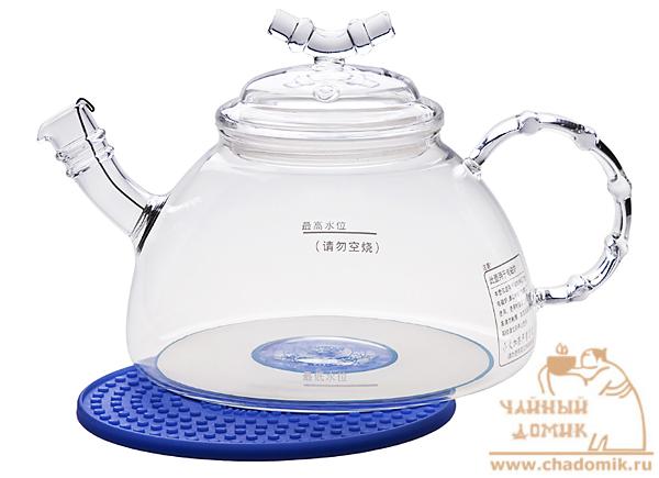 Прозрачный огнеупорный чайники для открытого огня